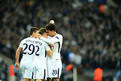 1st November 2017, Wembley Stadium, London, England; UEFA Champions League, Tottenham Hotspur versus Real Madrid; Dele Alli of Tottenham Hotspur celebrates with team mate Kieran Trippier