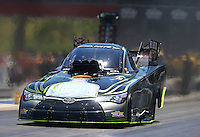 Jun 18, 2016; Bristol, TN, USA; NHRA funny car driver Alexis DeJoria during qualifying for the Thunder Valley Nationals at Bristol Dragway. Mandatory Credit: Mark J. Rebilas-USA TODAY Sports