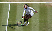 Serena Williams (USA) during her victory against Julia Goerges (GER) in their Ladies' Semi-Final match<br /> <br /> Photographer Rob Newell/CameraSport<br /> <br /> Wimbledon Lawn Tennis Championships - Day 10 - Thursday 12th July 2018 -  All England Lawn Tennis and Croquet Club - Wimbledon - London - England<br /> <br /> World Copyright &copy; 2017 CameraSport. All rights reserved. 43 Linden Ave. Countesthorpe. Leicester. England. LE8 5PG - Tel: +44 (0) 116 277 4147 - admin@camerasport.com - www.camerasport.com