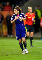 Mizuho Sakaguchi.  Japan won the FIFA Women's World Cup on penalty kicks after tying the United States, 2-2, in extra time at FIFA Women's World Cup Stadium in Frankfurt Germany.