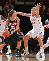 STANFORD, CA - January 7, 2012: Stanford Cardinal's Joslyn Tinkle during Stanford's 67-60 victory over Oregon State at Maples Pavilion in Stanford, California.