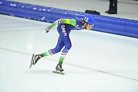 SCHAATSEN: HEERENVEEN: 14-12-2014, IJsstadion Thialf, ISU World Cup Speedskating, Mass Start, Jorrit Bergsma (#12   NED), ©foto Martin de Jong