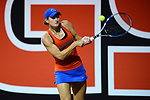 ATHENS, GA - MAY 23: Josie Kuhlman of the University of Florida returns a serve against Stanford University during the Division I Women's Tennis Championship held at the Dan Magill Tennis Complex on the University of Georgia campus on May 23, 2017 in Athens, Georgia. (Photo by Steve Nowland/NCAA Photos via Getty Images)