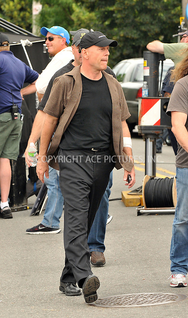 WWW.ACEPIXS.COM . . . . .  ....June 19 2009, New York City....Actor Bruce Willis on the Brooklyn set of the new movie 'A Couple of Dicks' on June 19 2009 in New York City....Please byline: AJ Sokalner - ACEPIXS.COM..... *** ***..Ace Pictures, Inc:  ..tel: (212) 243 8787..e-mail: info@acepixs.com..web: http://www.acepixs.com