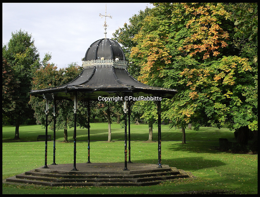 BNPS.co.uk (01202 558833)<br /> Pic: PaulRabbitts/BNPS<br /> <br /> ***Please Use Full Byline***<br /> <br /> The bandstand in Overtoun Park, Glasgow. Still stands today and was built in 1914.<br /> <br /> A landscape gardener is trumpeting the great British creation of the bandstand after touring the country's parks to study the iconic structures for a new book.<br /> <br /> Paul Rabbitts' work is a celebration of the Victorian platforms and a throwback to the halycon days of outdoor music when thousands of people would gather in public parks for a brass band performance.