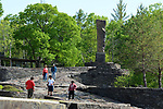Detail of the scene at the Opus 40 Sculpture Park on Fite Road, in Saugerties, NY on Sunday May 21, 2017. Photos by jim Peppler. Copyright Jim Peppler/2017.
