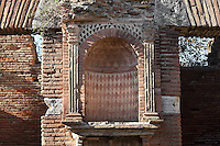 Niche, Caseggiato del Larario (House of the Lararium), 2nd century AD, Ostia Antica, Italy. Picture by Manuel Cohen Picture by Manuel Cohen