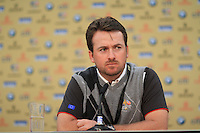 Graeme McDowell speaking at a press conference during the 2010 Ryder Cup at the Celtic Manor twenty ten course, Newport Wales, 28/9/2010.Picture Fran Caffrey/www.golffile.ie.