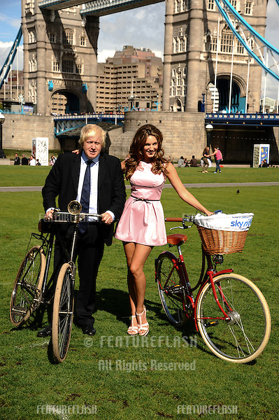 Mayor Boris Johnson and actress, Kelly Brook launches the 2011 Skyride at Potters Field, London. 26/08/2011 Picture by: Steve Vas / Featureflash