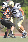 Beverly Hills, CA 09/23/11 - Alex Asawa (Peninsula #35) in action during the Peninsula-Beverly Hills frosh football game at Beverly Hills High School.
