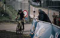 Tom Pidcock (GBR/U23/Telenet Fidea Lions) showing signs of an earlier crash<br /> <br /> Elite Men's Race<br /> GP Sven Nys / Belgium 2018