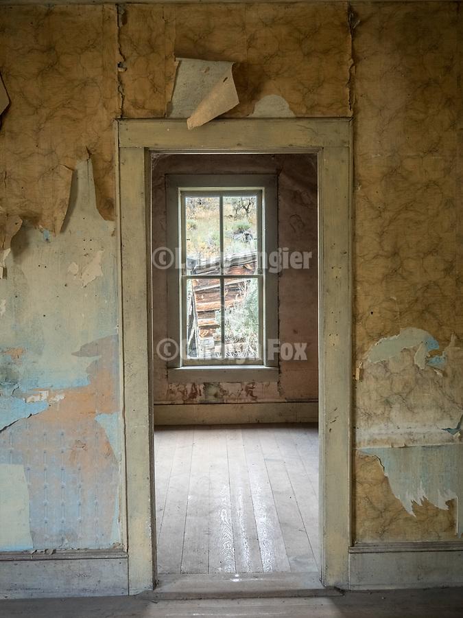 Doorway, ghost town of Bannock, Montana, first territorial capital of the region