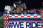 Jane Richard Philips of Switzerland riding Foica van den Bisschop competes during the Longines Grand Prix, part of the Longines Masters of Hong Kong on 12 February 2017 at the Asia World Expo in Hong Kong, China. Photo by Juan Manuel Serrano / Power Sport Images