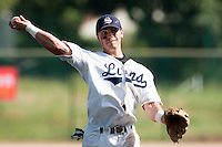 24 May 2009: Yann Dal Zotto of Savigny throws the ball to first base during the 2009 challenge de France, a tournament with the best French baseball teams - all eight elite league clubs - to determine a spot in the European Cup next year, at Montpellier, France. Rouen wins 7-5 over Savigny.