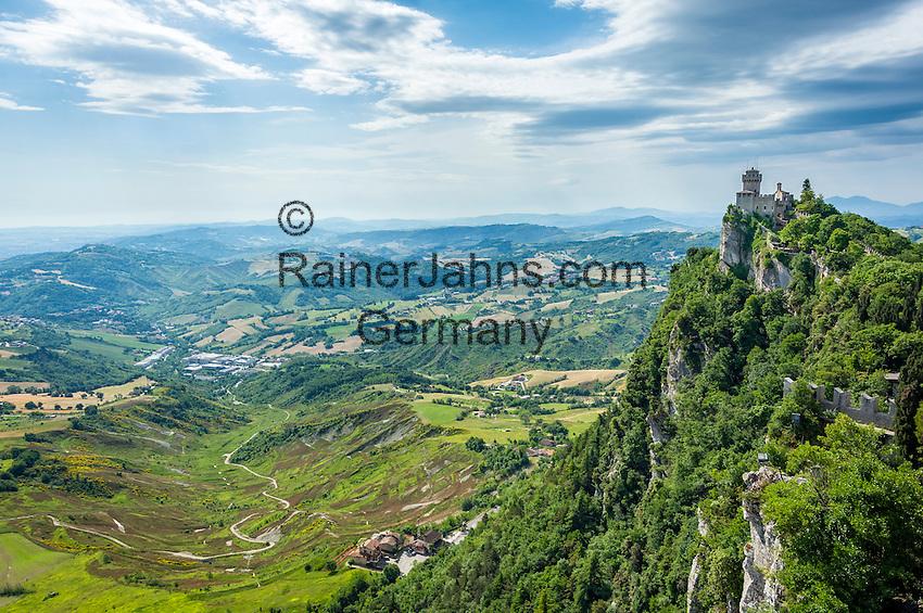 Republic of San Marino, San Marino City: 2nd Fortress on top of Monte Titano La Cesta o Fratta | Republik San Marino, San Marino Stadt: die 2. Befestigungsanlage auf dem Monte Titano La Cesta o Fratta