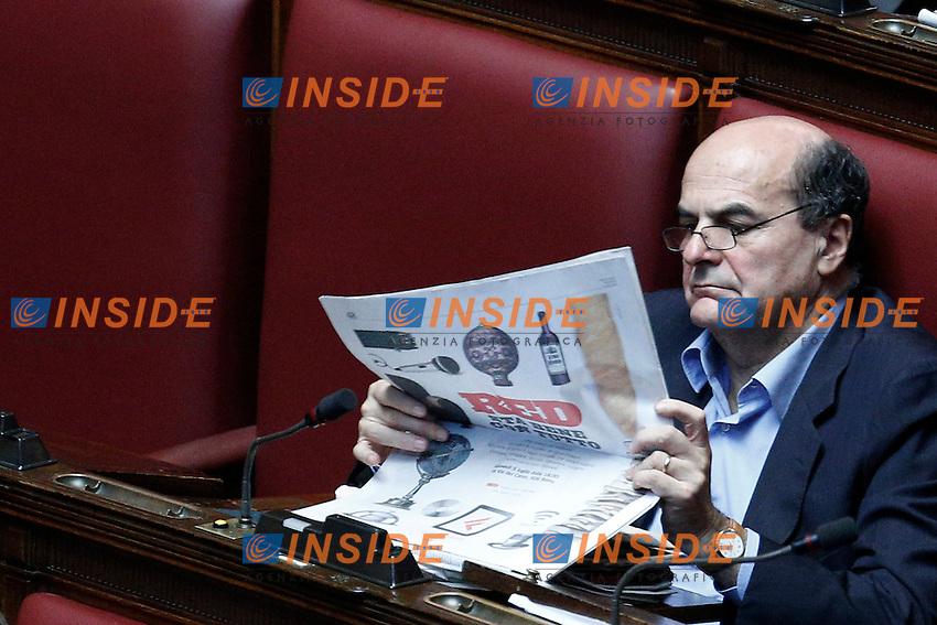 Pier Luigi Bersani Pd.Roma 04/07/2012 Camera dei Deputati - Mozione di sfiducia nei confronti del Ministro del Lavoro e Politiche Sociali.Foto Serena Cremaschi Insidefoto