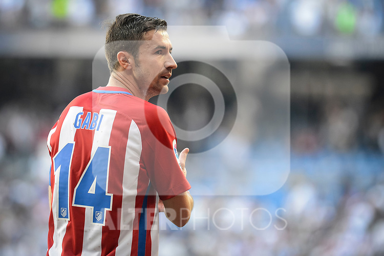 Atletico de Madrid's Gabriel &ldquo;Gabi&rdquo; Fern&aacute;ndez during La Liga match between Real Madrid and Atletico de Madrid at Santiago Bernabeu Stadium in Madrid, April 08, 2017. Spain.<br /> (ALTERPHOTOS/BorjaB.Hojas)