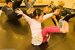 Education Elementary School New York Grade 2 arts enrichment dance class female student dancing horizontal