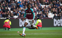 Edimilson Fernandes of West Ham United during the EPL - Premier League match between West Ham United and Southampton at the Olympic Park, London, England on 31 March 2018. Photo by Andy Rowland.