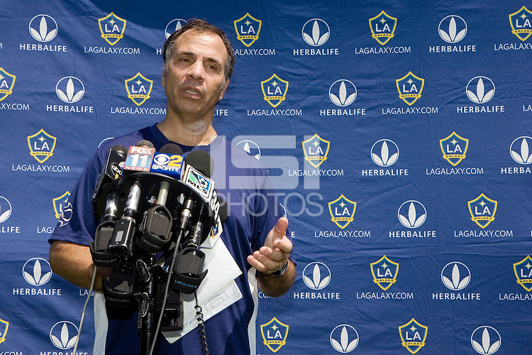 Bruce Arena new LA Galaxy head coach introduction press conference. The LA Galaxy and Chivas USA played to a 2-2 draw at Home Depot Center stadium in Carson, California on Monday, August 18, 2008.