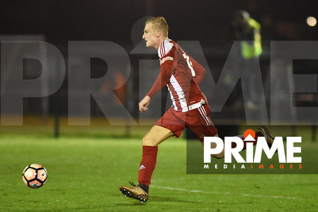 Stourbridge's Chris Lait sets off on a forward run during the FA Cup 1st round replay match between Stourbridge and Whitehawk  at the War Memorial Athletic Ground, Stourbridge, England on 14 November 2016. Photo by Garry Griffiths.