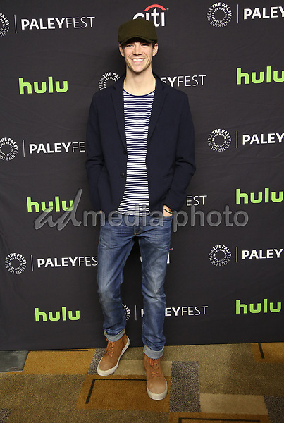 """18 March 2017 - Hollywood, California - Grant Gustin. The Paley Center For Media's 34th Annual PaleyFest Los Angeles - The CW """"Heroes & Aliens"""" held at Dolby Theatre. Photo Credit: AdMedia"""