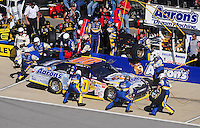 Nov. 1, 2009; Talladega, AL, USA; NASCAR Sprint Cup Series driver David Reutimann pits during the Amp Energy 500 at the Talladega Superspeedway. Mandatory Credit: Mark J. Rebilas-