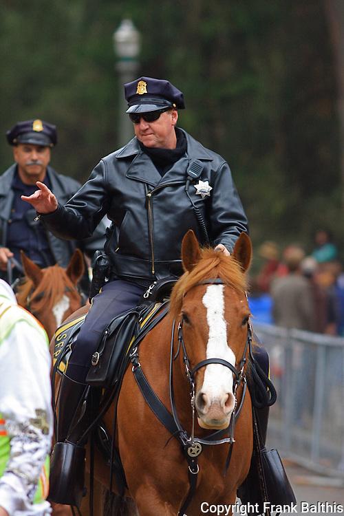 horse patrol in San Francisco, Golden Gate Park