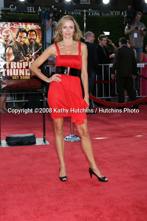 "Vanessa Angel  arriving at .""Tropic Thumder"" Premiere at the Mann's Village Theater in Westwood, CA.August 11, 2008.©2008 Kathy Hutchins / Hutchins Photo...."
