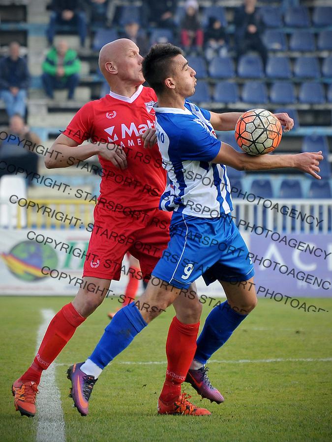 Fudbal Jelen Super League season 2016-2017<br /> Novi Pazar v Javor<br /> Milovan Milovic (L) i Anes Rusevic (D)<br /> Novi Pazar, 26. 11. 2016<br /> foto: Emir Sadovic/Starsportphoto &copy;