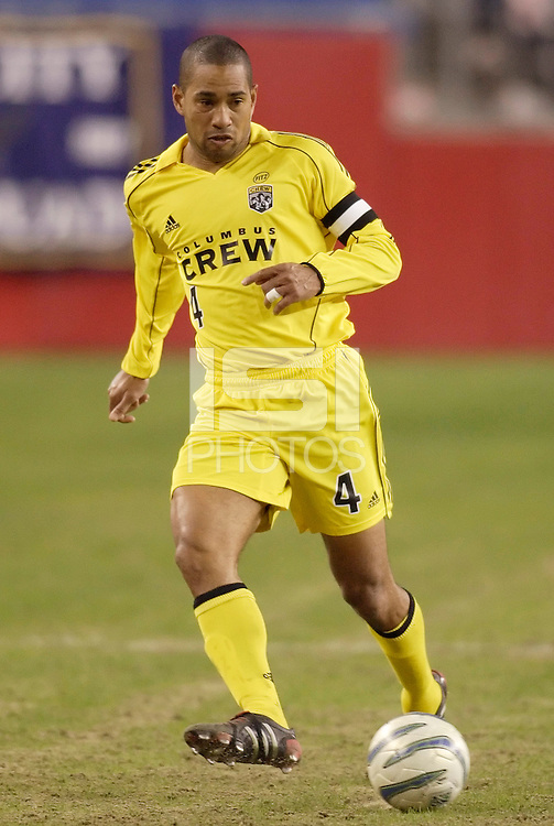 The Columbus Crew's Robin Fraser. The New England Revolution defeated the Columbus Crew 3 to 0 during the Revolution's MLS home opener at Gillette Stadium, Foxboro. MA, on Saturday April 9, 2005.