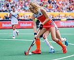 Den Bosch  - Yibbi Jansen (Ned)   tijdens  de Pro League hockeywedstrijd dames, Nederland-Belgie (2-0).    COPYRIGHT KOEN SUYK