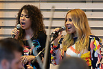 Singers Patricia Sosa (L) and Marta Sanchez during the press conference and rehearsal of Festival Unicos. September 22, 2019. (ALTERPHOTOS/Johana Hernandez)