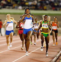 Hazel Clark winning the 800m in a time of 2:02.40 at the Jamaica International Invitational Meet on Saturday, May 3rd. 2008. Photo by Errol Anderson, The Sporting Image.