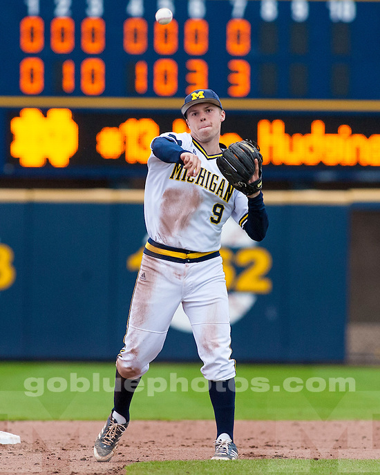 The University of Michigan baseball team beat Notre Dame, 8-2, at the Wilpon Complex in Ann Arbor, Mich., on April 16, 2013.