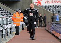 Bournemouth manager Eddie Howe arrives before the Barclays Premier League match between Swansea City and Bournemouth at the Liberty Stadium, Swansea on November 21 2015