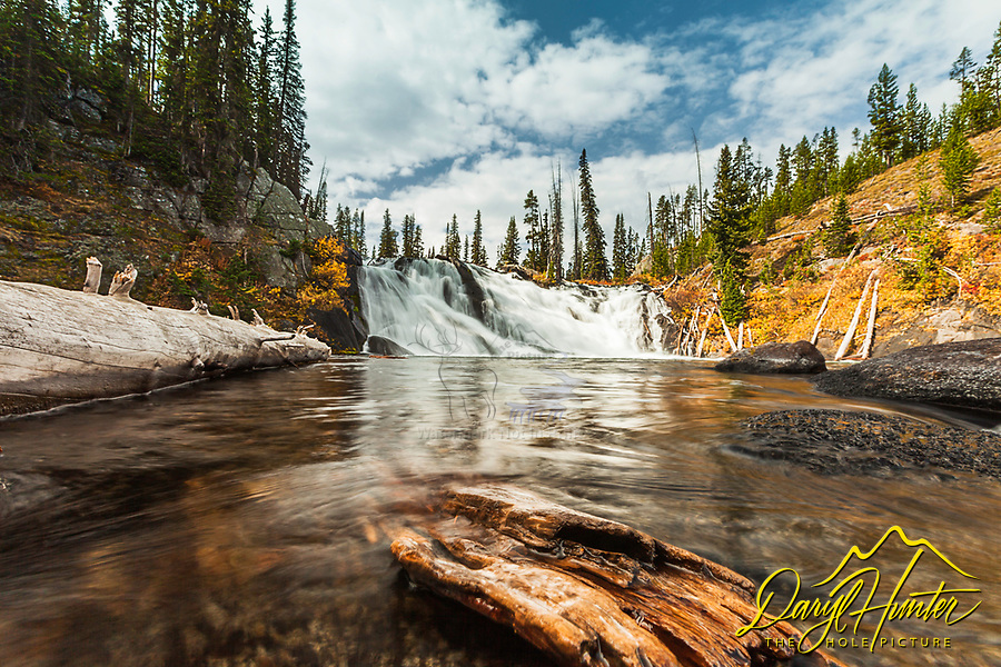Autumn Colors, Lewis Falls, Yellowstone National Park