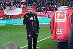 14.04.2019, Merkur Spielarena, Duesseldorf , GER, 1. FBL,  Fortuna Duesseldorf vs. FC Bayern Muenchen,<br />  <br /> DFL regulations prohibit any use of photographs as image sequences and/or quasi-video<br /> <br /> im Bild / picture shows: <br /> Friedhelm Funkel Trainer / Headcoach (Fortuna Duesseldorf), <br /> <br /> Foto © nordphoto / Meuter