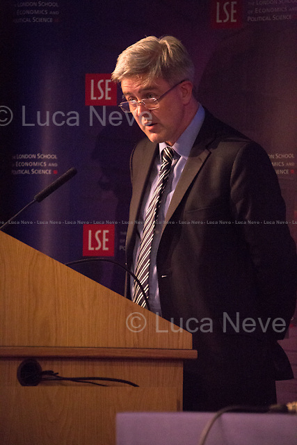 Paul Kelly (Pro-Director at LSE, Professor of Political Philosophy at LSE, and Head of the Department of Government).<br /> <br /> London, 28/05/2015. Today, the LSE (London School of Economics and Political Studies) European Institute presented a public lecture called &quot;The Case for Europe: the Italian vision&quot; hosted by the President of the Italian Republic Sergio Mattarella (Italian Politician, lawyer and judge; he is the 12th President of the Italian Republic; he was a member of Parliament from 1983 to 2008 elected for the Christian Democracy Party in the western Sicily constituency; he served as Minister of Education from 1989 to 1990, as Deputy Prime Minister of Italy from 1998 to 1999 and as Minister of Defence from 1999 to 2001. In 2011, he became an elected judge on the Constitutional Court). Chairs of the event were Paul Kelly (Pro-Director at LSE, Professor of Political Philosophy at LSE, and Head of the Department of Government) and Maurice Fraser (Senior Fellow in European Politics at LSE, Director Agora Projects - publishing. Senior Counselor, APCO Worldwide. Special Adviser to UK Foreign Secretaries Douglas Hurd, John Major and Sir Geoffrey Howe, 1989 - 1995).<br />  <br /> Here there is the link to the podcast to listen the lecture: http://bit.ly/1FlfM9V