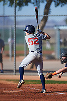 Andrew Dutro (52), from Roseville, California, while playing for the Indians during the Under Armour Baseball Factory Recruiting Classic at Red Mountain Baseball Complex on December 29, 2017 in Mesa, Arizona. (Zachary Lucy/Four Seam Images)