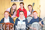 Taking part in the busking competitions at the Trad Fe?ile festival in Athea on Friday night were front l-r Kevin O'Neill, Kieran Flavin and Tom Trench. Back l-r Aoife Trench,Moira O'Connell and Killian O'Carroll.  All from Listowel.....   Copyright Kerry's Eye 2008