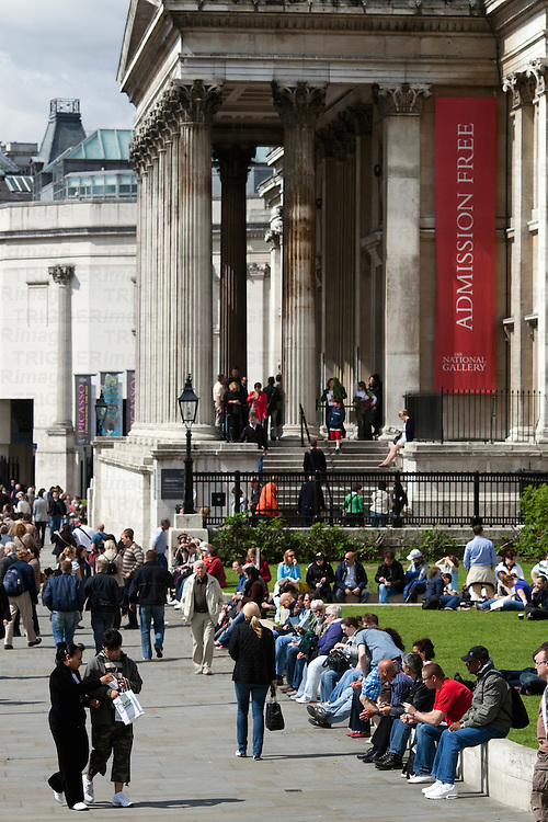 National Gallery on Trafalgar square, London, England, United Kingdom