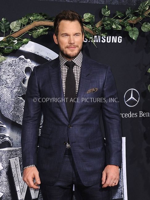 WWW.ACEPIXS.COM<br /> <br /> June 9 2015, LA<br /> <br /> Chris Pratt arriving at the world premiere of 'Jurassic World' at the Dolby Theatre on June 9, 2015 in Hollywood, California. <br /> <br /> <br /> By Line: Peter West/ACE Pictures<br /> <br /> <br /> ACE Pictures, Inc.<br /> tel: 646 769 0430<br /> Email: info@acepixs.com<br /> www.acepixs.com