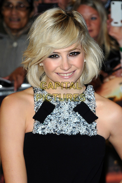 Pixie Lott.'The Twilight Saga: Breaking Dawn - Part 1' UK film premiere at Westfield Stratford City, London, England..16th November 2011.headshot portrait dress silver beads beaded embellished .CAP/CJ.©Chris Joseph/Capital Pictures.
