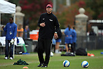 25 October 2009: Virginia Tech assistant coach Charles Adair. The Duke University Blue Devils defeated the Virginia Tech Hokies 4-1 at Koskinen Stadium in Durham, North Carolina in an NCAA Division I Women's college soccer game.