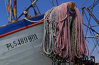 Amérique/Amérique du Sud/Pérou/Env de Chiclayo/Détail d'un bateau de pêche