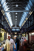 UK. London. 24th February 2014<br /> Meat traders at Smithfield market.<br /> &copy;Andrew Testa for the New York Times