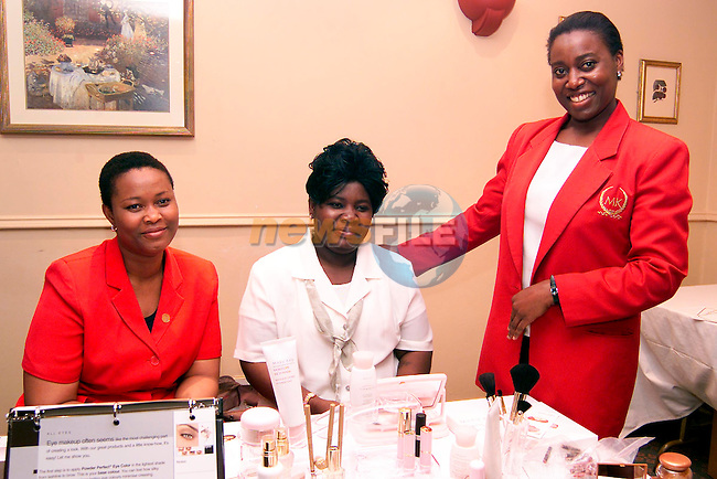 Joy Kuyem, Nike Oduwole and Pamela Dafiemubo at the Mary Kay Cosmetics Ltd. Open Day in the Westcourt Hotel..Picture: Paul Mohan/Newsfile