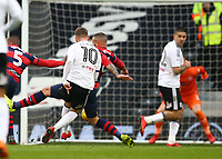 17th March 2018, Craven Cottage, London, England; EFL Championship football, Fulham versus Queens Park Rangers; Tom Cairney of Fulham shoots to score his sides 1st goal in the 31st minute to make it 1-0
