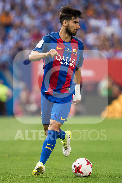 FC Barcelona's midfielder Andre Gomes during Copa del Rey (King's Cup) Final between Deportivo Alaves and FC Barcelona at Vicente Calderon Stadium in Madrid, May 27, 2017. Spain.<br /> (ALTERPHOTOS/BorjaB.Hojas)